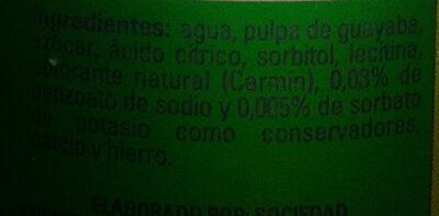 Néctar de Guayaba - Ingredients