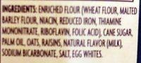 Crispy Crunchy Oatmeal Raisin Cookies - Ingredients
