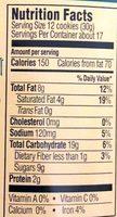 Crispy Crunchy Oatmeal Raisin Cookies - Nutrition facts