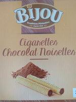 Cigarettes Fourrées Chocolat Noisettes - Produit - fr