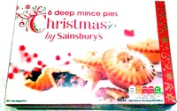 6 Christmas deep mince pies - Product