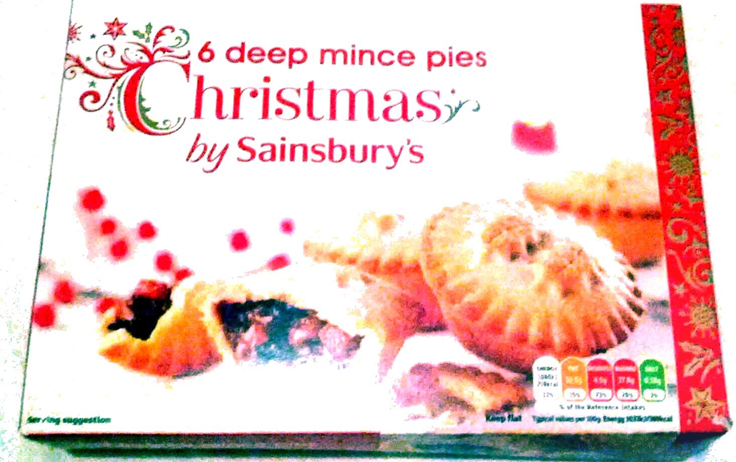 6 Christmas deep mince pies - Produit - en