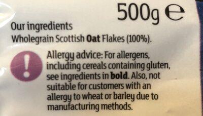 Porridge oats - Ingrédients - fr