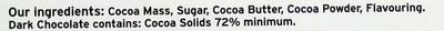 Swiss Dark Chocolate - Ingredients