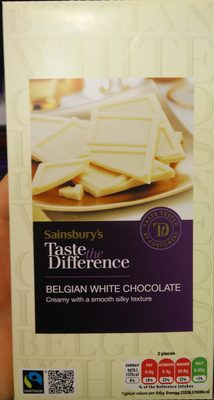 Taste the Difference Fairtrade Belgian White Chocolate - Produit