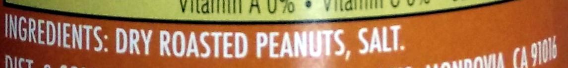 Peanut butter - Ingredients - en