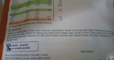 Microwave Mexican rice - Ingredients