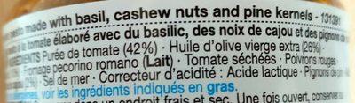 Red Pesto - Ingredients