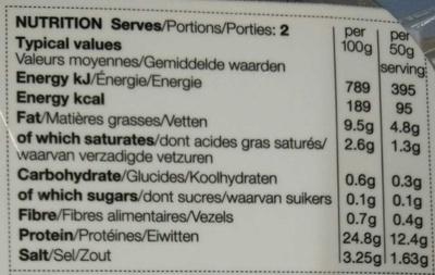 Scottish Lochmuir™ oak smoked salmon - Nutrition facts - en