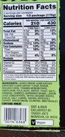 Veggie wrap with hummus - Nutrition facts - en