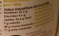 Amandino Blanches - Informations nutritionnelles - fr