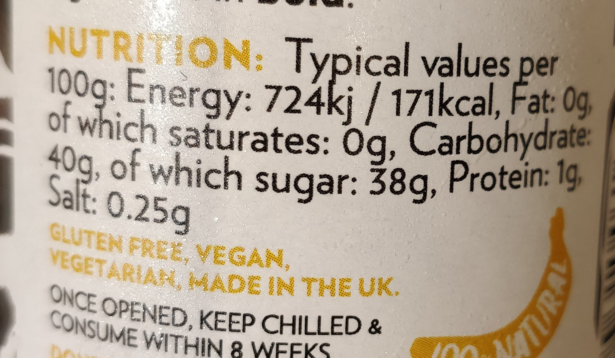 Banana Ketchup - Informations nutritionnelles - en