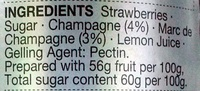 Strawberry & Champagne Conserve - Ingredients