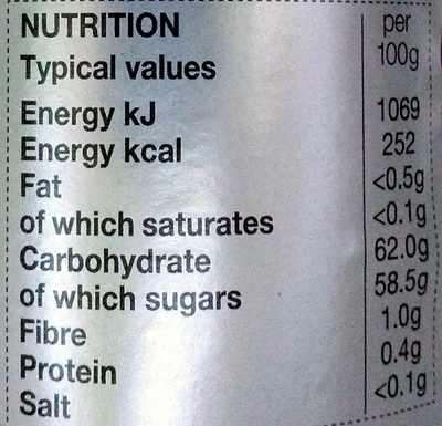 Strawberry & Champagne Conserve - Nutrition facts