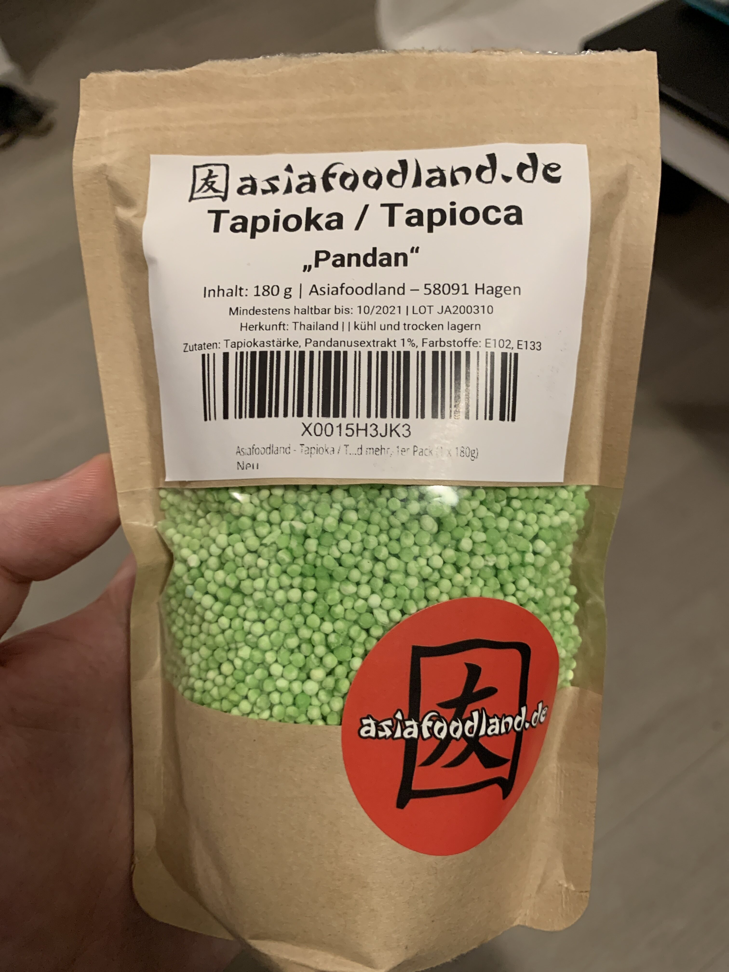 "Tapioka / Tapioca ""Pandan"" - Product - de"