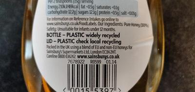 Acacia Clear Honey - Ingredients - en