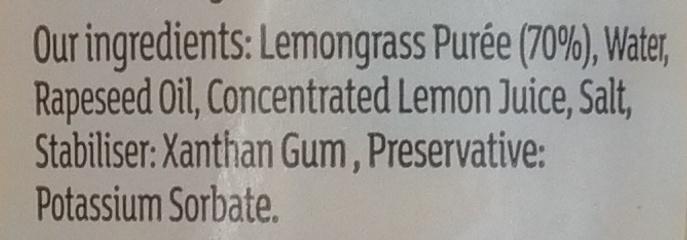 Lemongrass Paste - Ingrédients - en