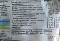 Banana & Chocolate chip Muffins - Nutrition facts - fr