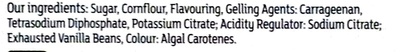 panna cotta dessert mix - Ingrédients - en