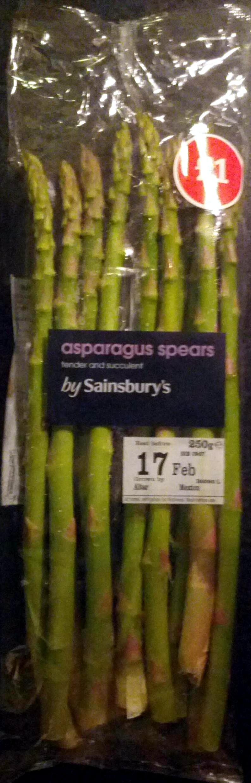 asparagus spears - Produit - en