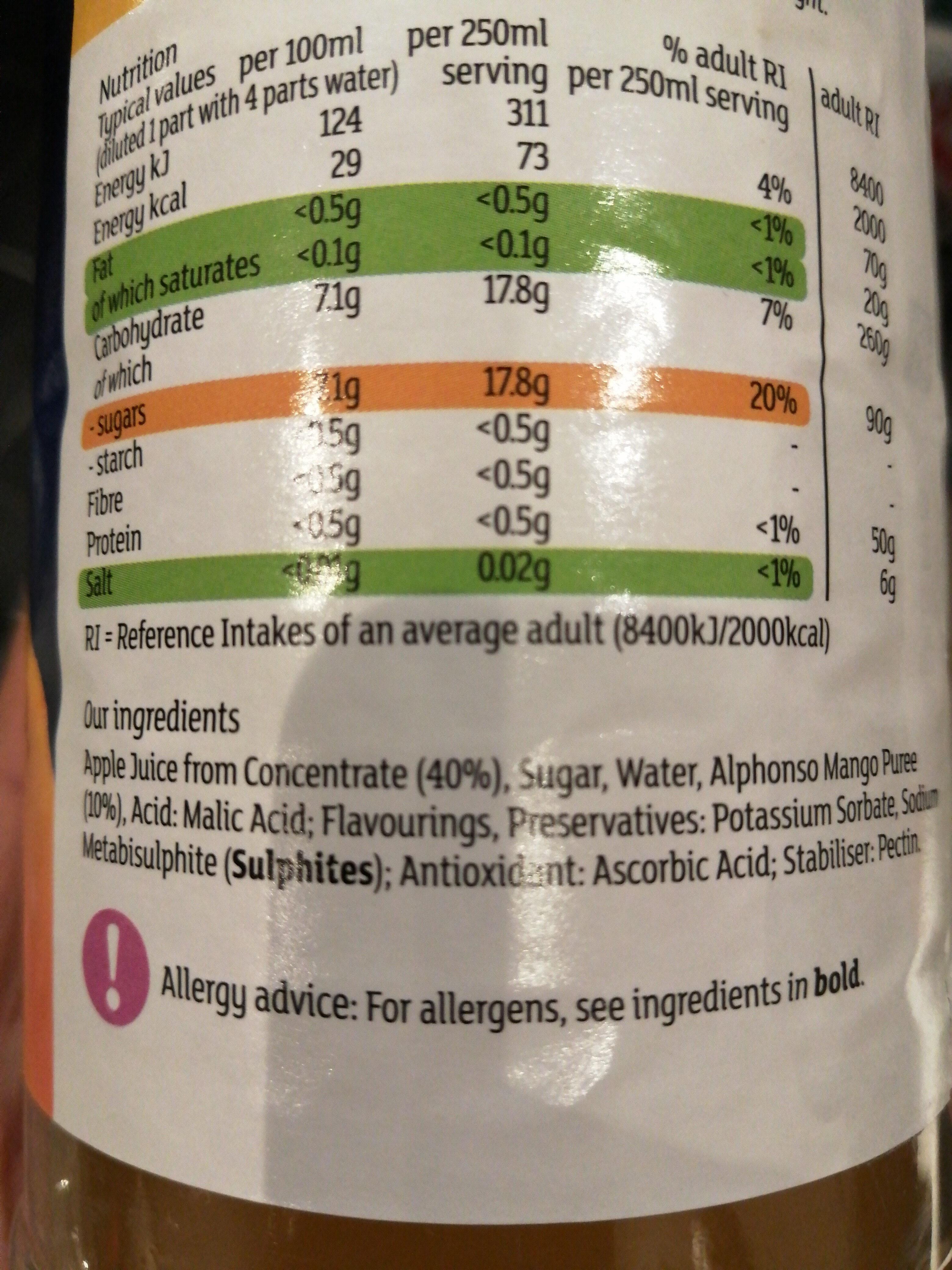 Apple & Alphonso Mango - Ingredients - en