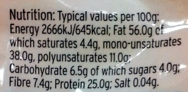 Ground almonds - Informations nutritionnelles - en