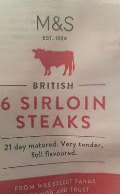Beef Sirloin Steaks - Product - en