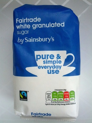 fair trade with granulated sugar - Product