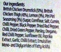 Piri Piri seasoned chicken thighs and drumsticks - Ingredients