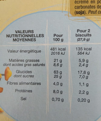petit dej Chococroustill - Nutrition facts - fr