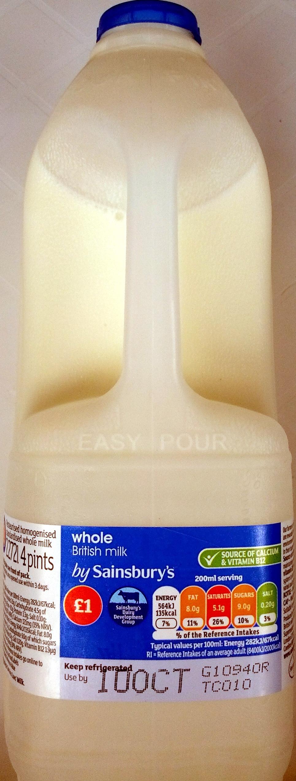Fresh whole milk - Produit