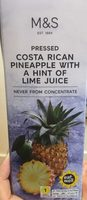 Pressed Costa Rican Pineapple with a Hint of Lime Juice - Product - fr