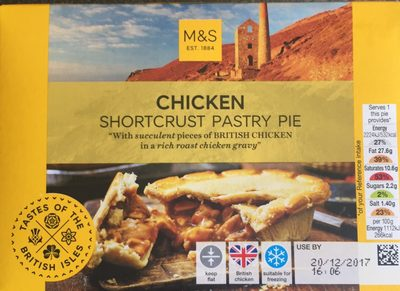 Chicken shortcrust pastry pie - Product