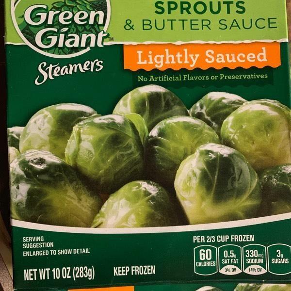 Steamers frozen baby brussel sprouts & butter sauce - Produit - en