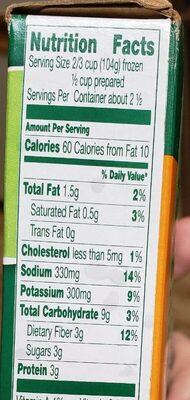Steamers frozen baby brussel sprouts & butter sauce - Informations nutritionnelles - en