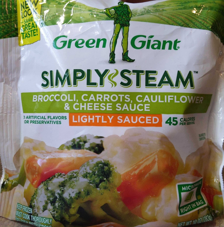 Simply Steam Broccoli, Carrots, Cauliflower & Cheese Sauce - Product - en