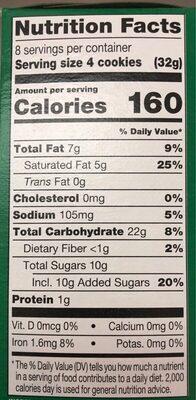 Girl scouts cookie thin mints - Nutrition facts - en