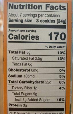 Peanut Butter sandwhich - Informations nutritionnelles - en