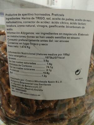 San Francisco Pretzel Company Sourdough - Informació nutricional - en