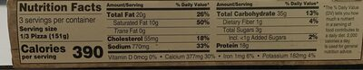 Thin And Crispy Pizza - Nutrition facts