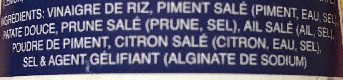 Sauce de piment - Ingrediënten - fr