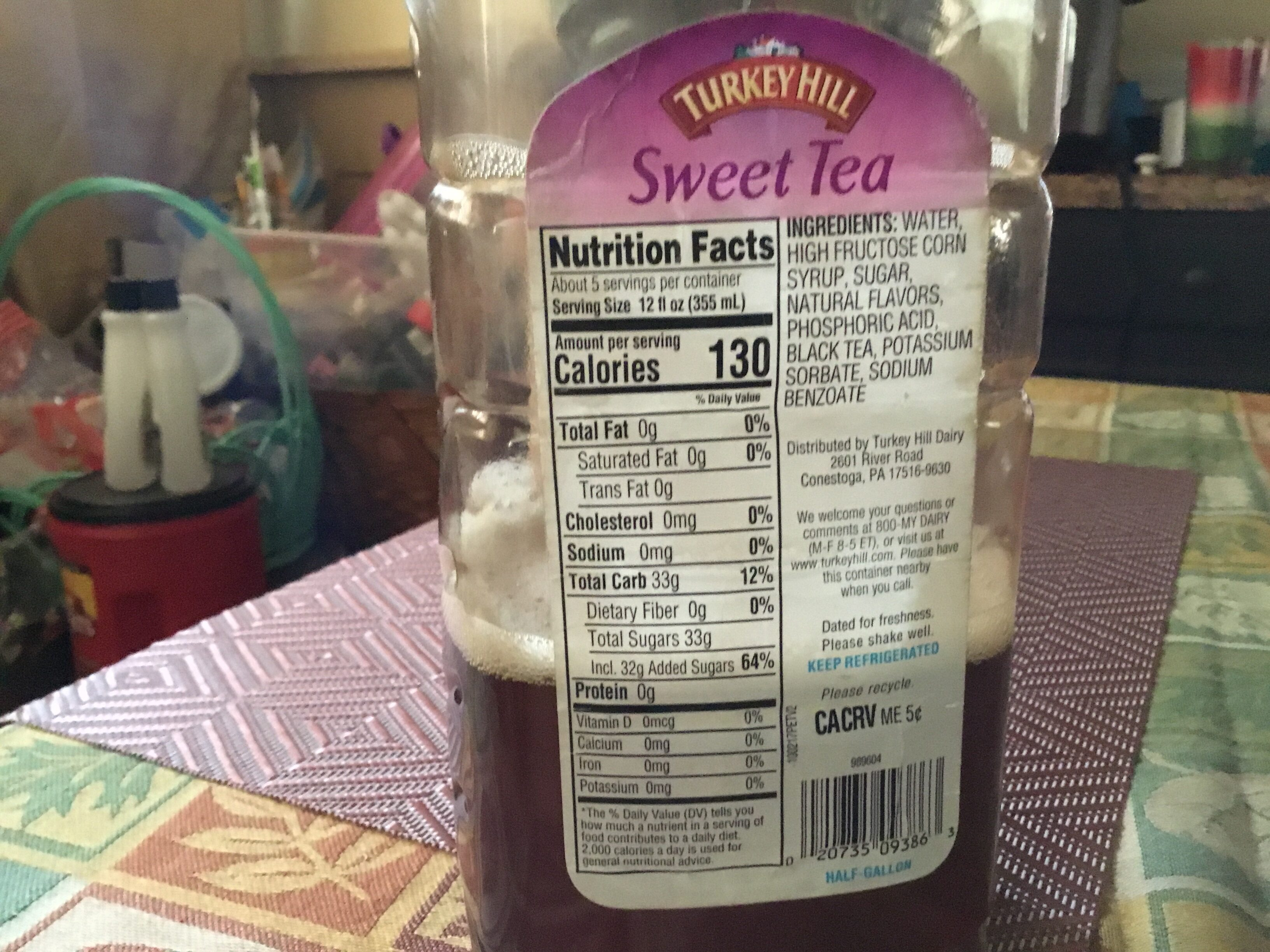 TH Sweet tea 64OZ - Nutrition facts - en