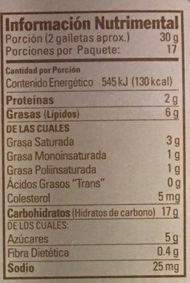 Surtido clásico Marían - Informations nutritionnelles - es