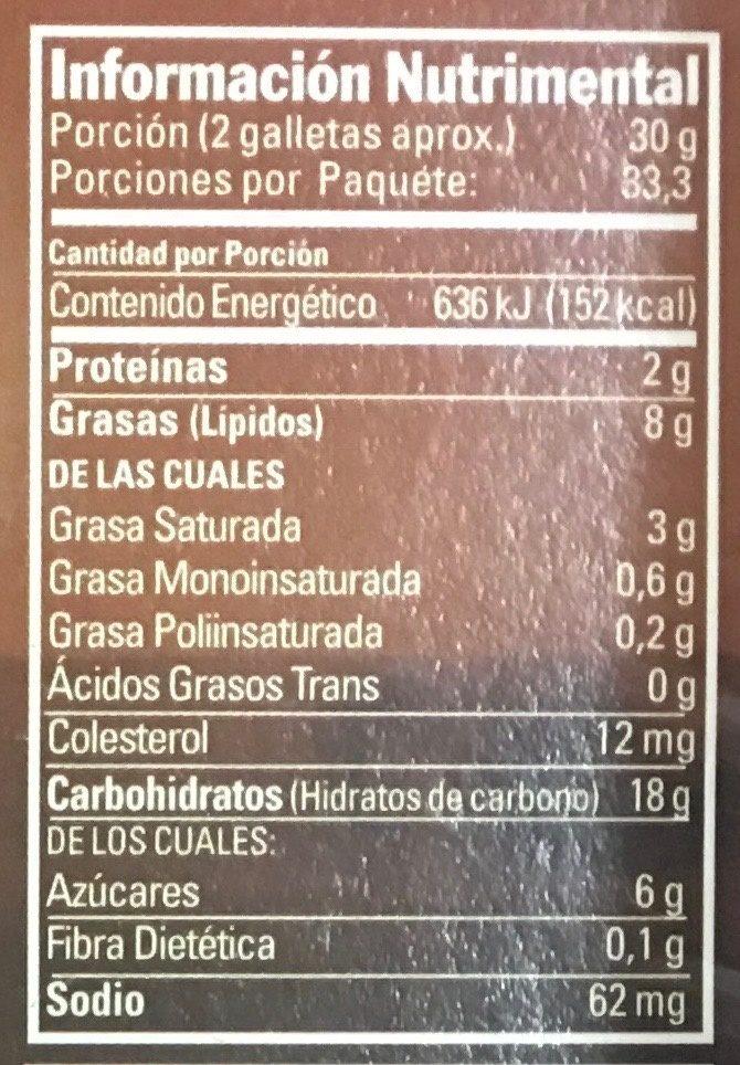 Majestic - Nutrition facts - es