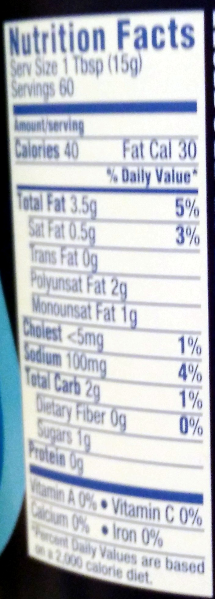 Miracle Whip Dressing Original - Nutrition facts - en