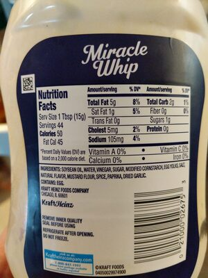 miracle whip - Ingredients - en
