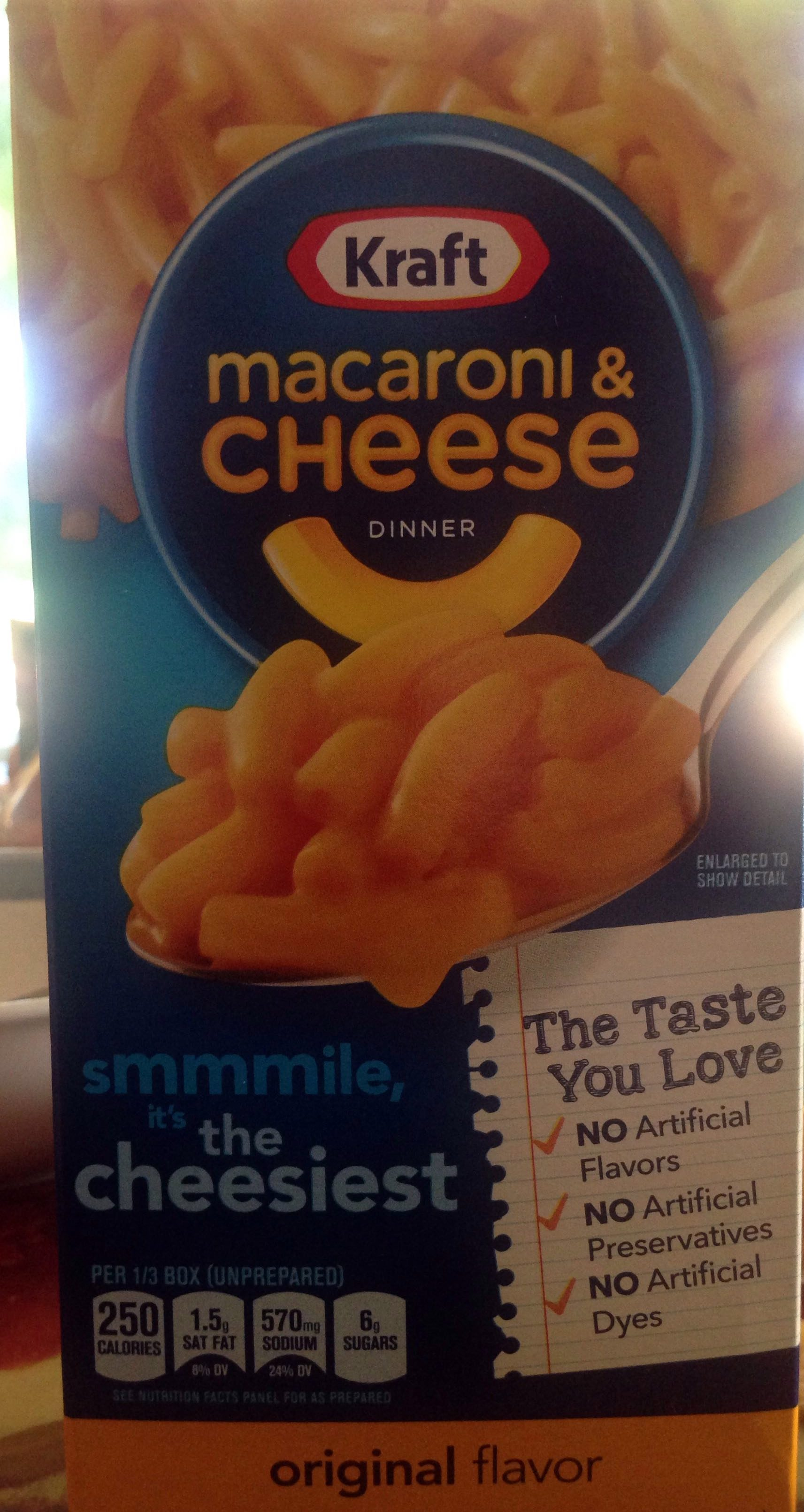 Macaroni & cheese dinner - Product