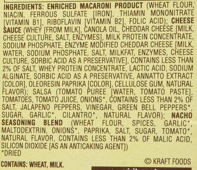 Velveeta Skillet Nacho Supreme - Ingredients - en