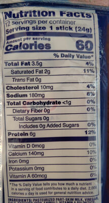 String Cheese - Nutrition facts - en