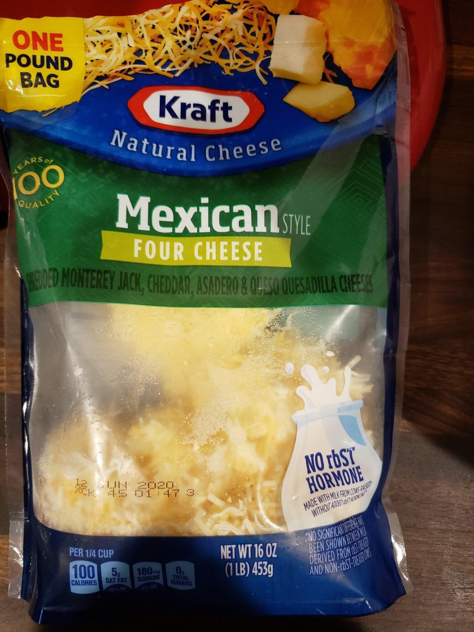kraft mexican four cheese - Produit - en